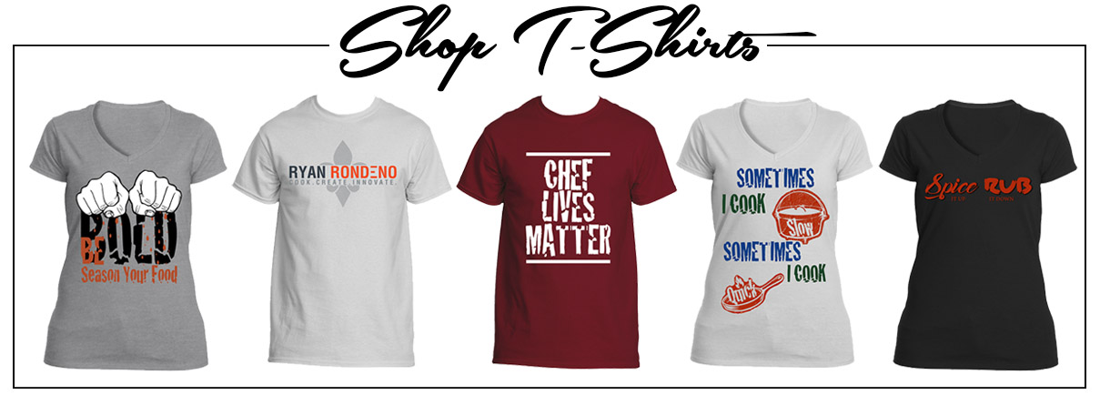T-Shirts by Rondeno Culinary Designs