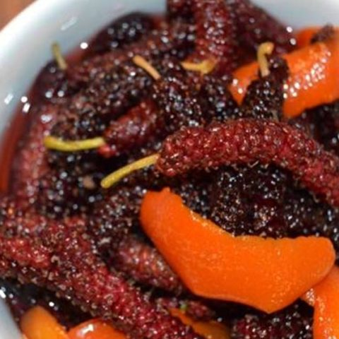 Pork Belly, Pickled Mulberry