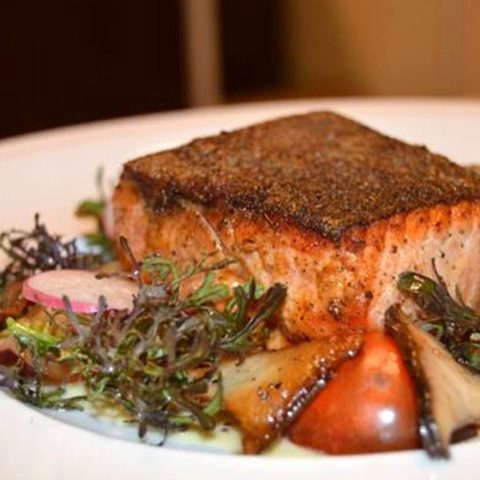 King Salmon with a Mustard Cream