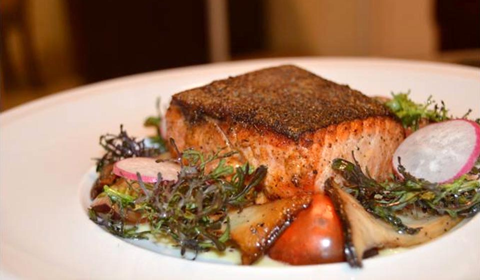 CREOLE LA – KING SALMON WITH A MUSTARD CREAM