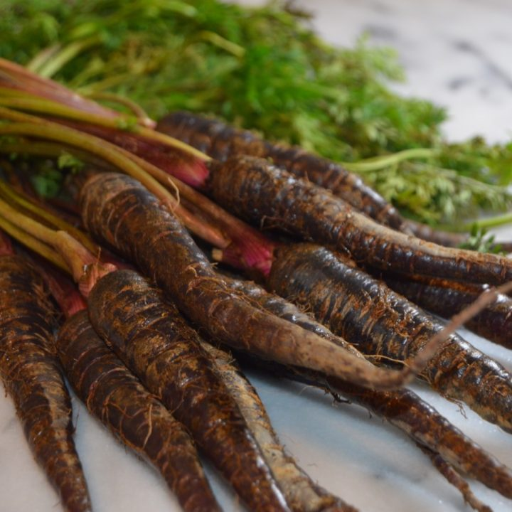 Cumin Roasted Carrots with Spiced Creme Fraiche