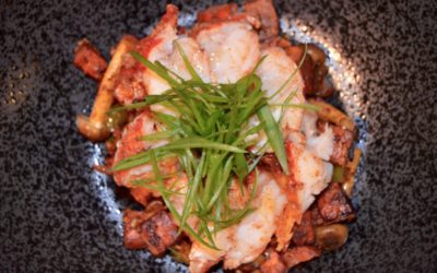 SWEET POTATO LOBSTER HASH