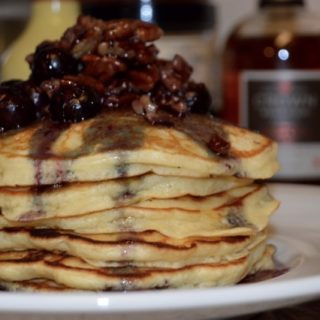 Buttermilk Blueberry-Pecan Pancakes Recipe